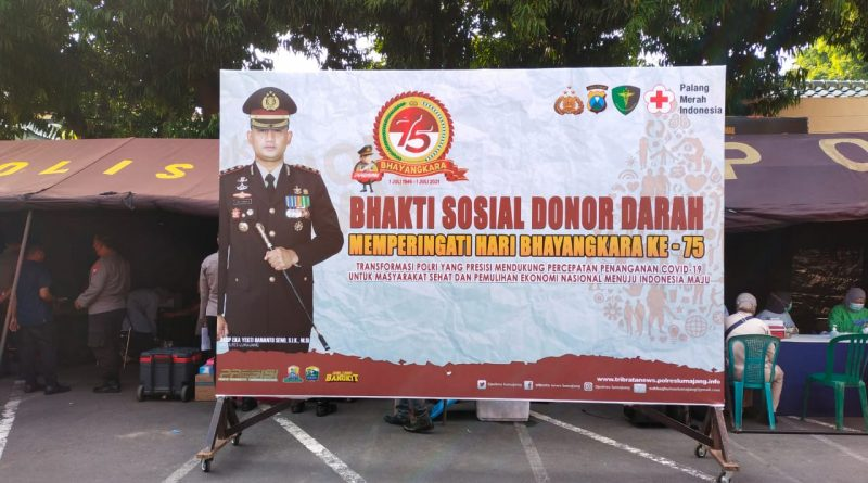 Hari Bhayangkara ke 75, Polres Gelar Bhakti Sosial Donor Darah