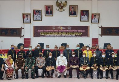 Dandim 0411lLT beserta istri hadiri HUT kabupaten Lampung Tengah