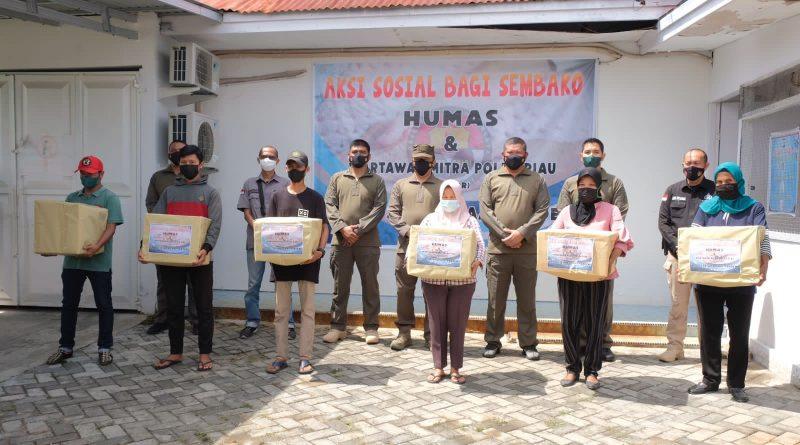 Humas-WMPR Peduli, Salurkan Ratusan Paket Sembako