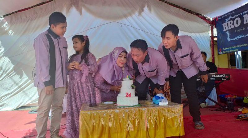 HUT Pernikahan ke 24 ,Ketua DPC Posbakumadin Banyuwangi Ajarkan Arti Kesetiaan