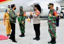 Kapoldasu menjemput Presiden RI dalam kunjungan kerja di Sumut